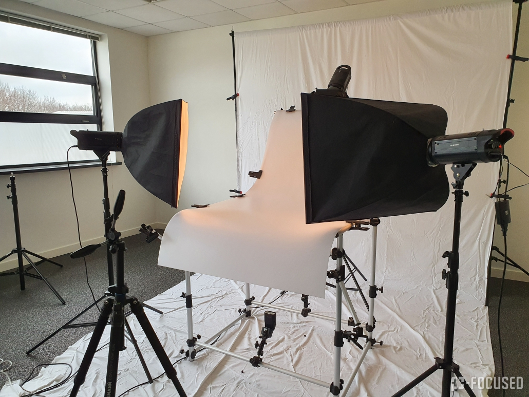 Opzet fotostudio voor productfotografie
