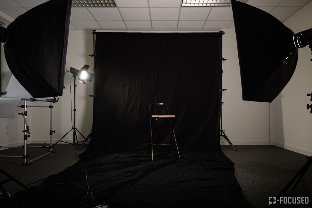 Studioopzet voor profielfotografie